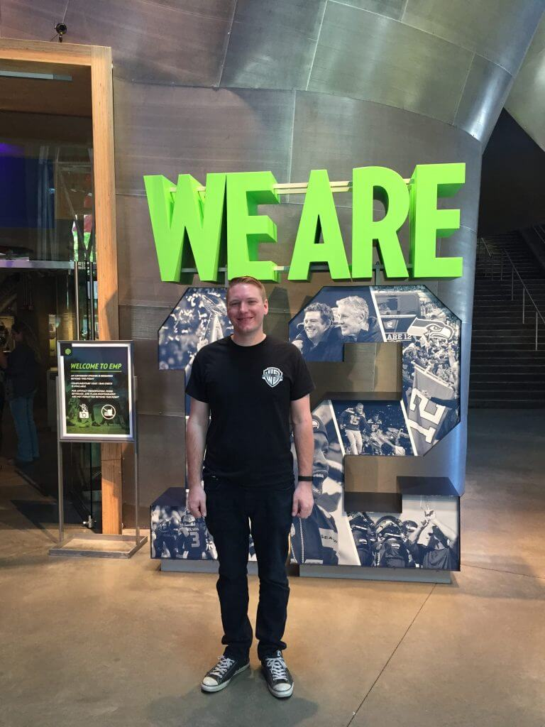 We are 12 exhibit in the EMP museum in Seattle