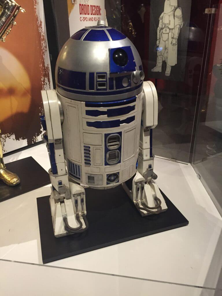 R2-D2 prop from Star Wars on exhibit at the EMP museum in Seattle.