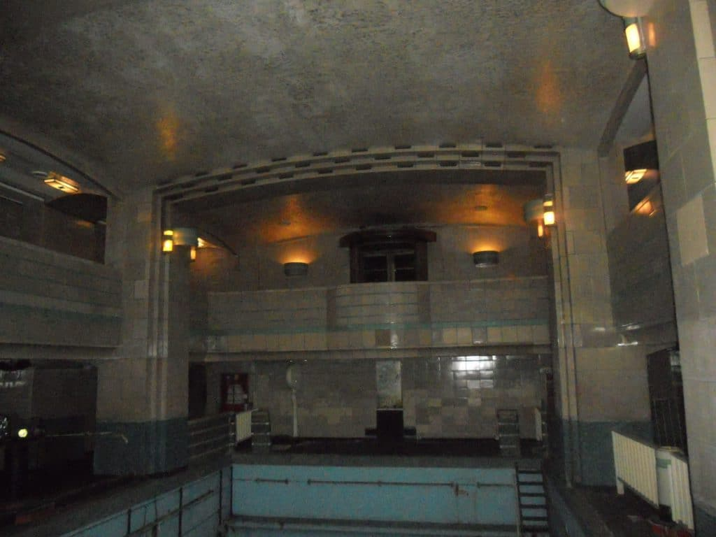 The old pool on the Queen Mary