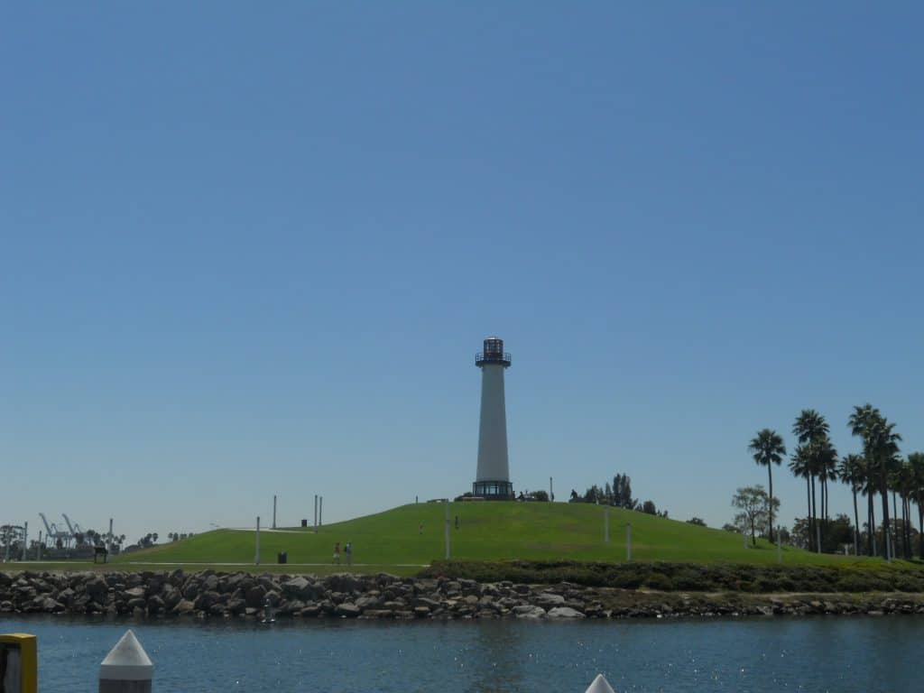 Light house in Long Beach right next to the Queen Mary
