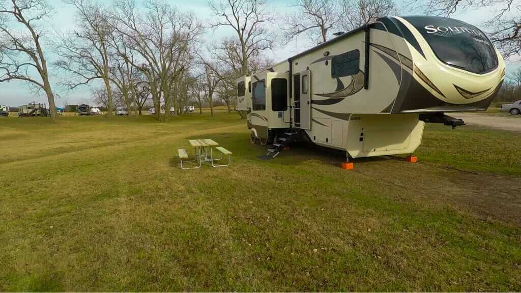 Campsite at the Thousand Trails Colorado RV campground