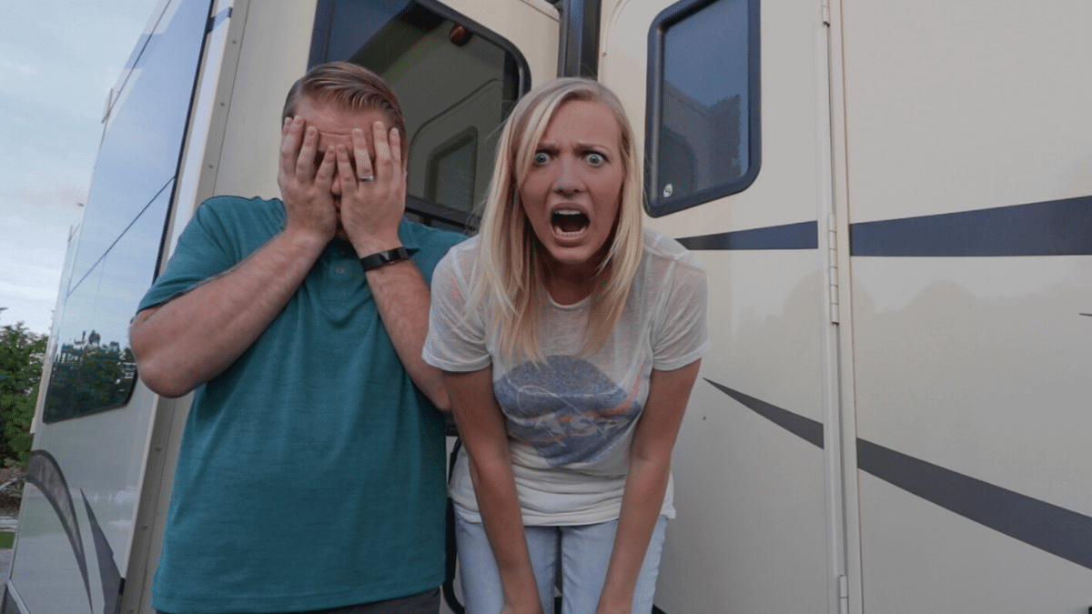 Jason and Rae Miller upset about all the beginner RV mistakes they have made
