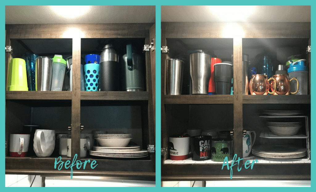 Cupboard before and after