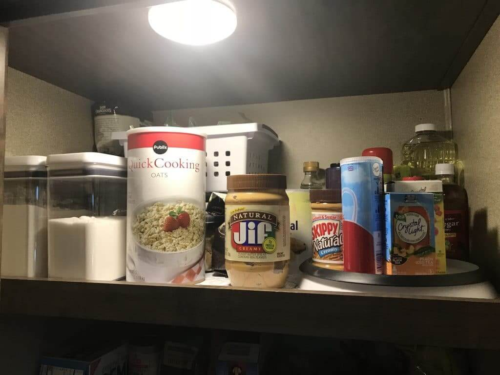 Airtight containers and a lazy susan