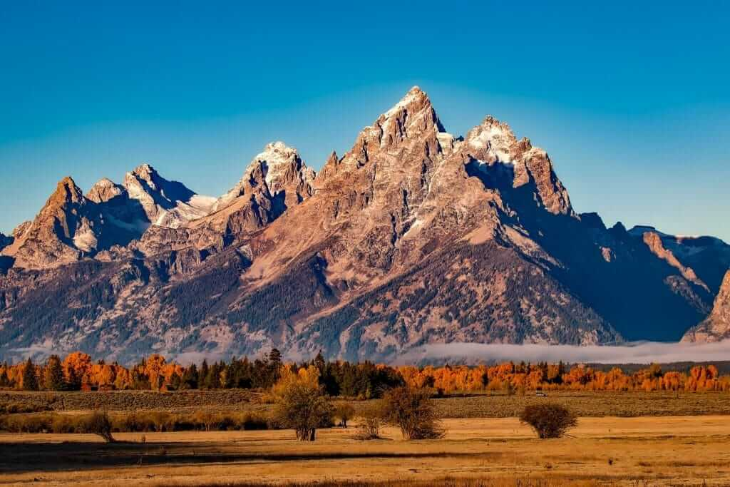 View of the mountains in Grand Teton National Park