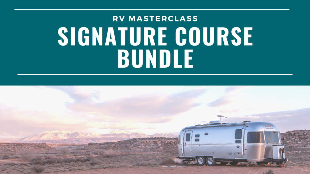The cover art for the Signature Course Bundle by RV Masterclass.