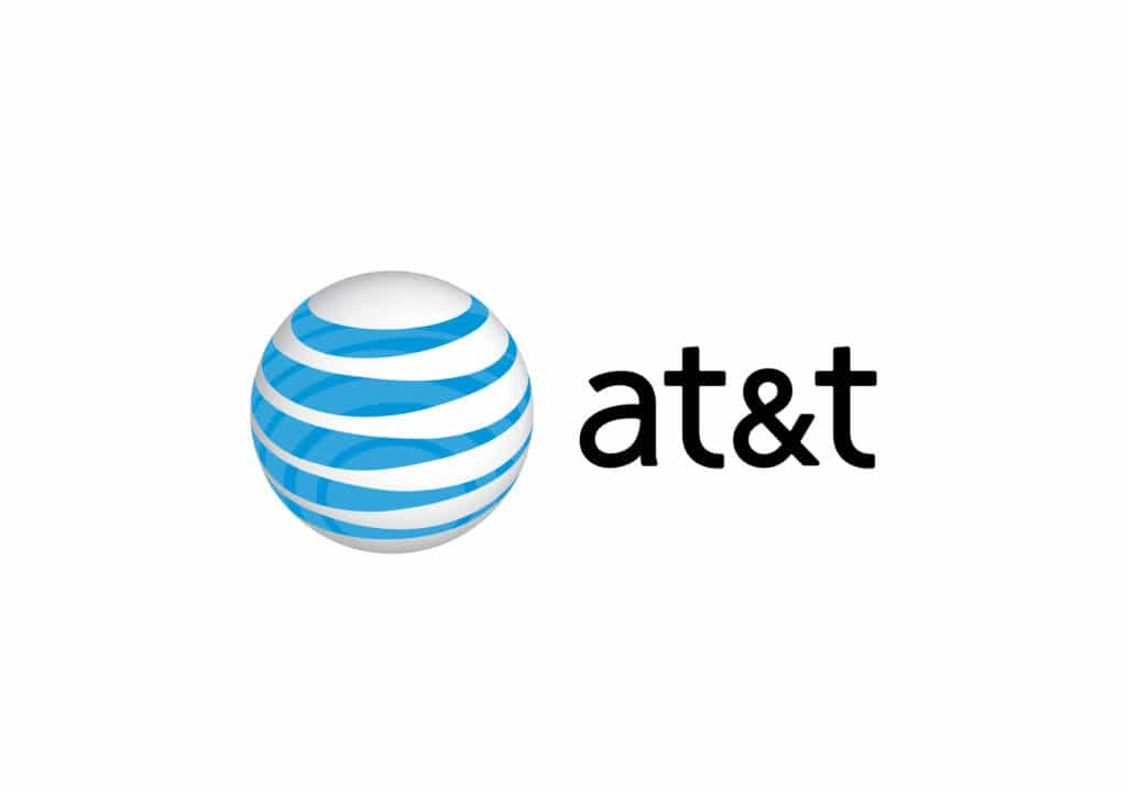 AT&T cell service provider logo