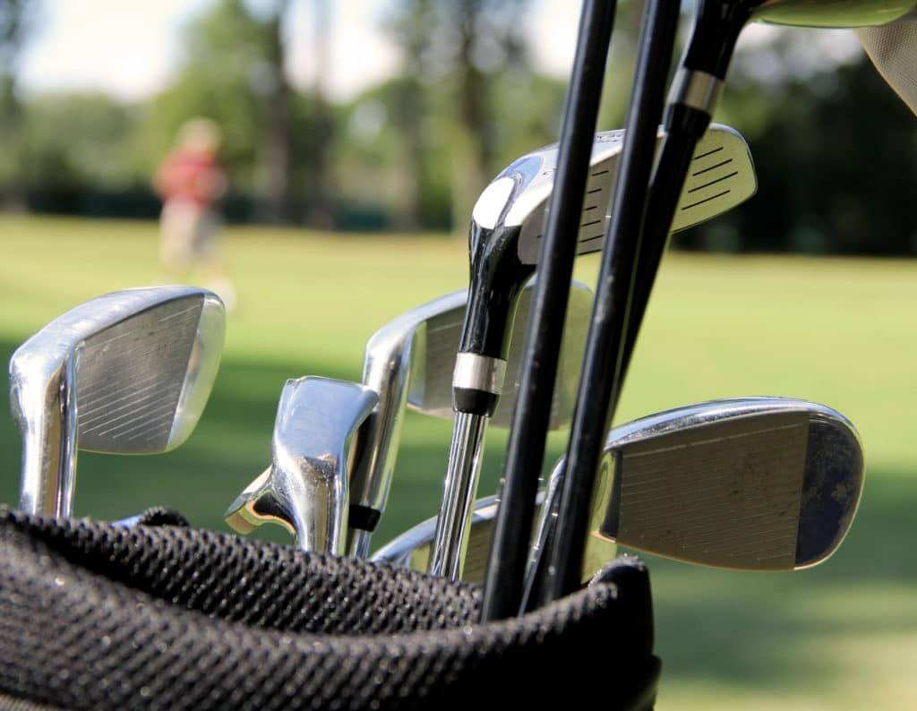 Golf Clubs at the Lewis River Golf Course Harvest Host