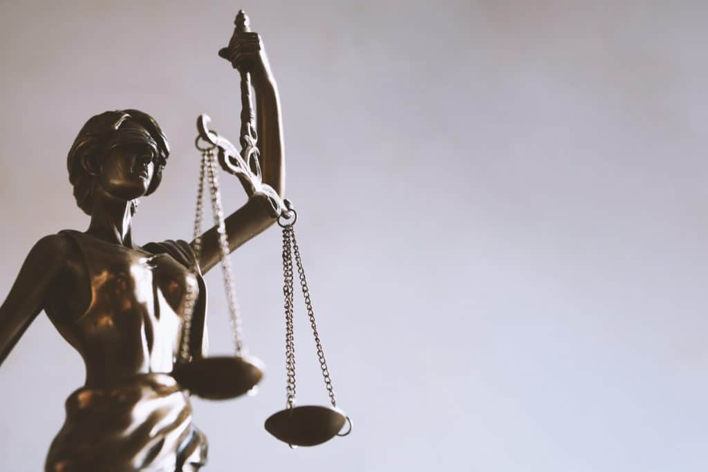 Lady Justice upholding the laws