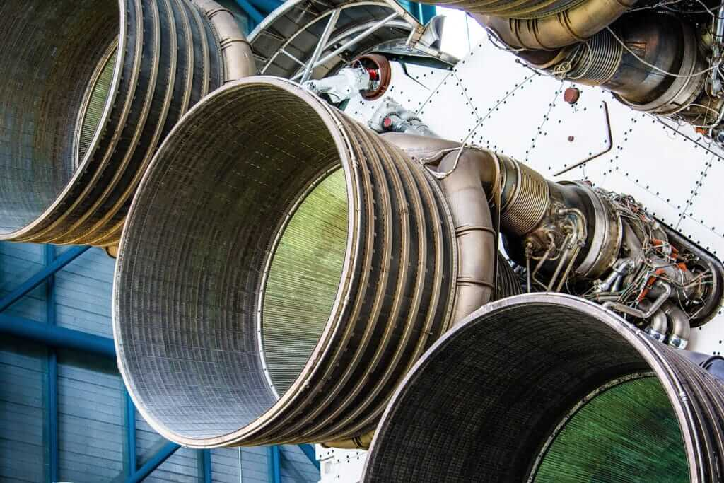 Rocket Engines at the Kennedy Space Center located close to the Great Outdoors RV Resort.