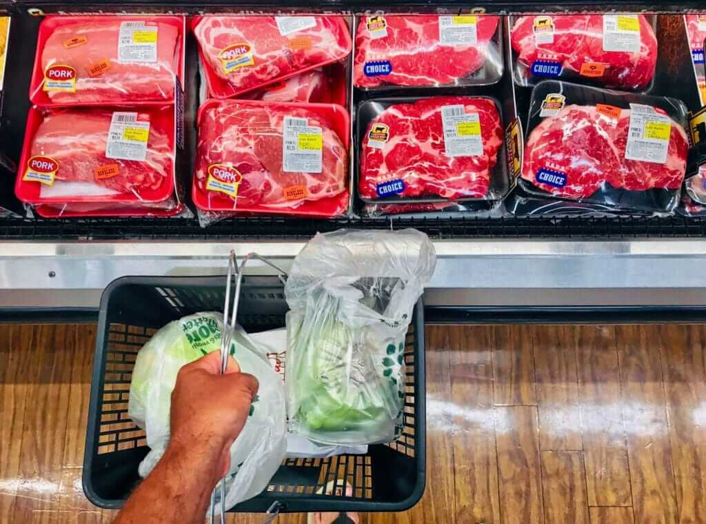 buying meat on sales from grocery store