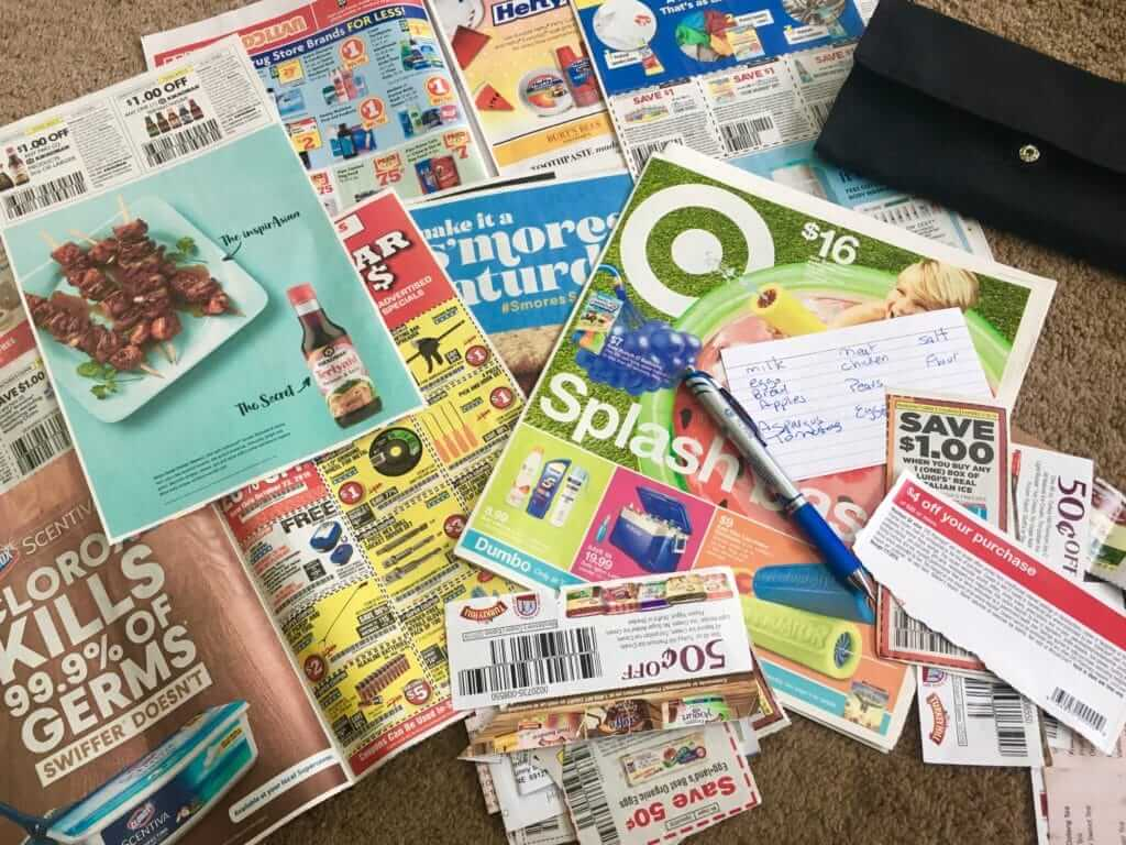 Cutting coupons to save money on groceries