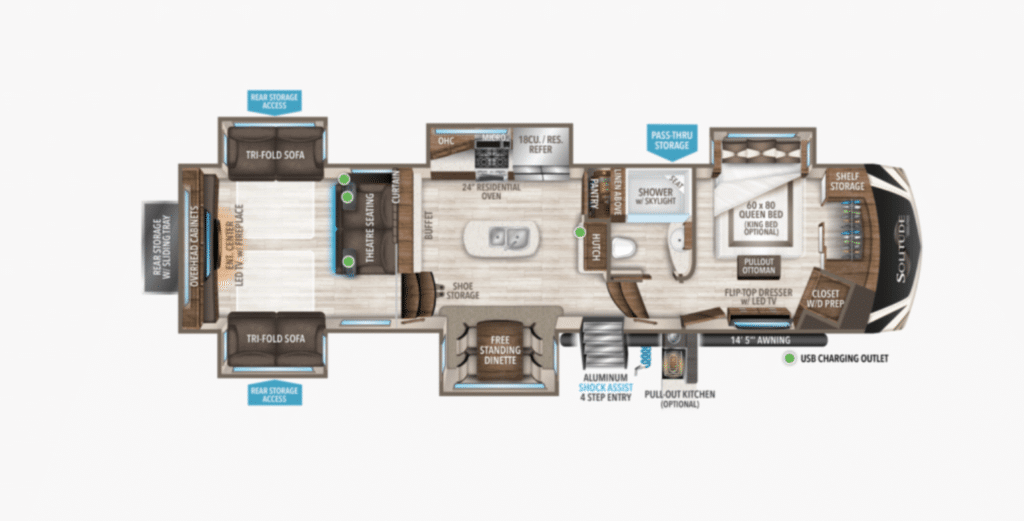 a Solitude floorplan to show the difference between grand design solitude and momentum