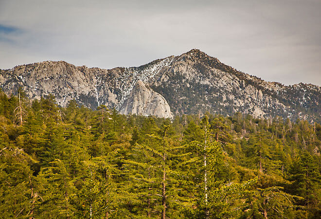 San Jacinto Mountains outside of the Thousand Trails Idyllwild campground