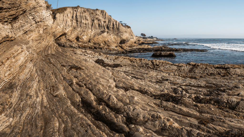 Pacific coast sea cave formation