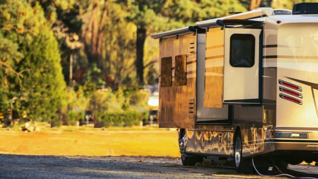 Motorhome with RV Slide out extended