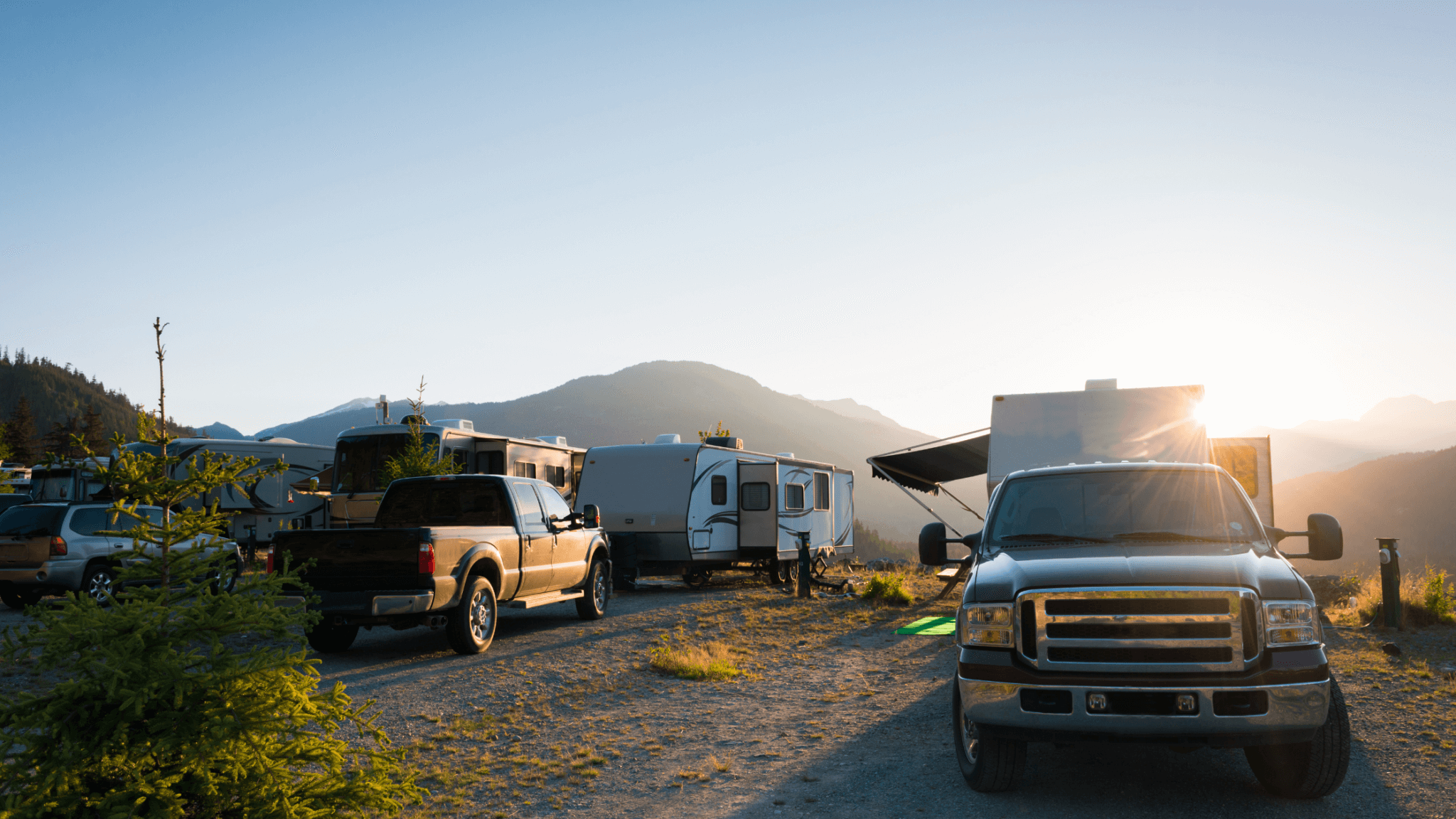 different RV sizes in campground