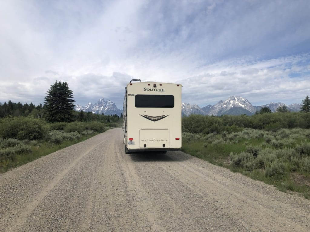 Free national forest camping location outside Grand Teton National park