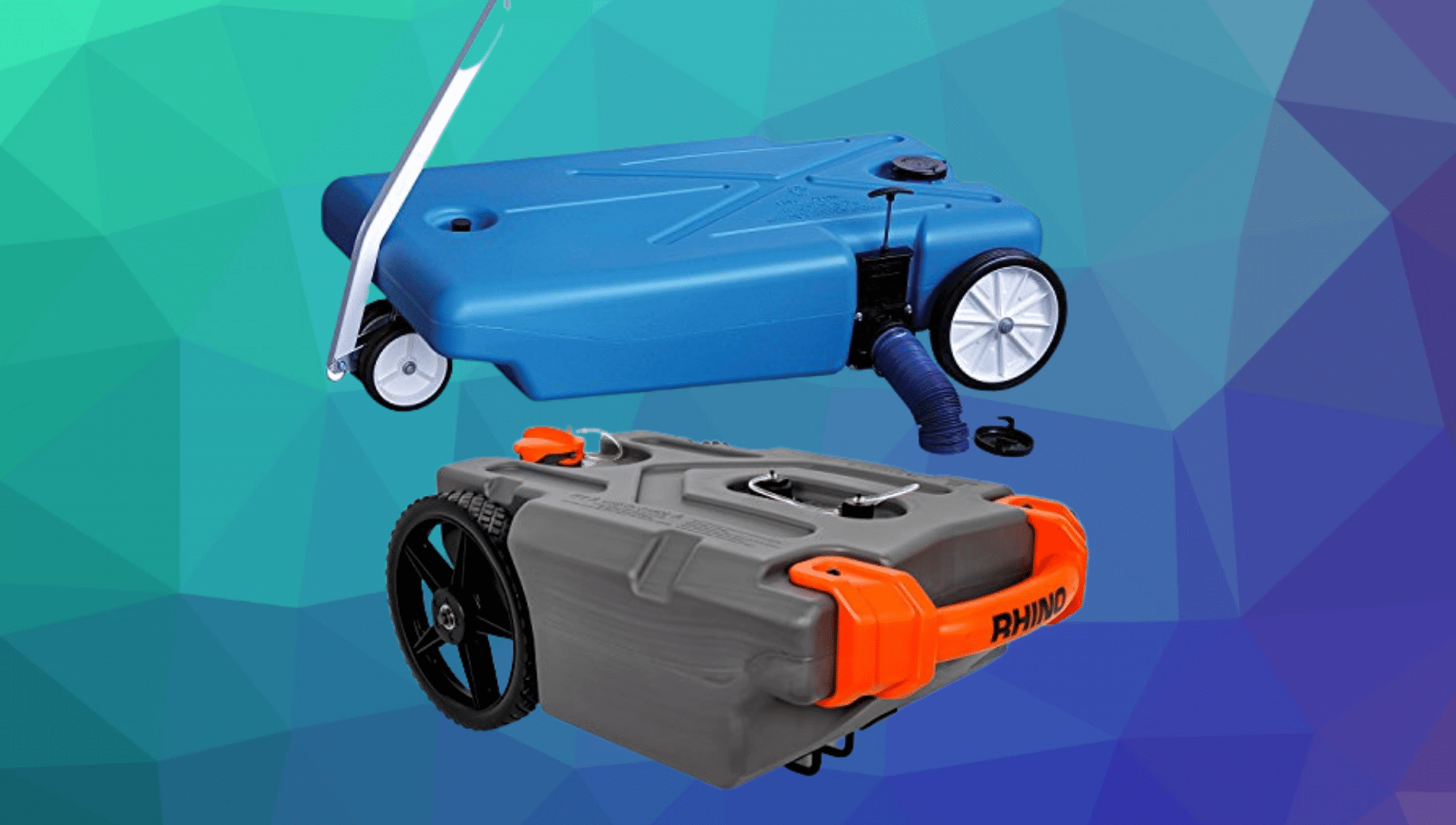 Two RV portable waste tanks are shown as the best RV portable waste tanks.