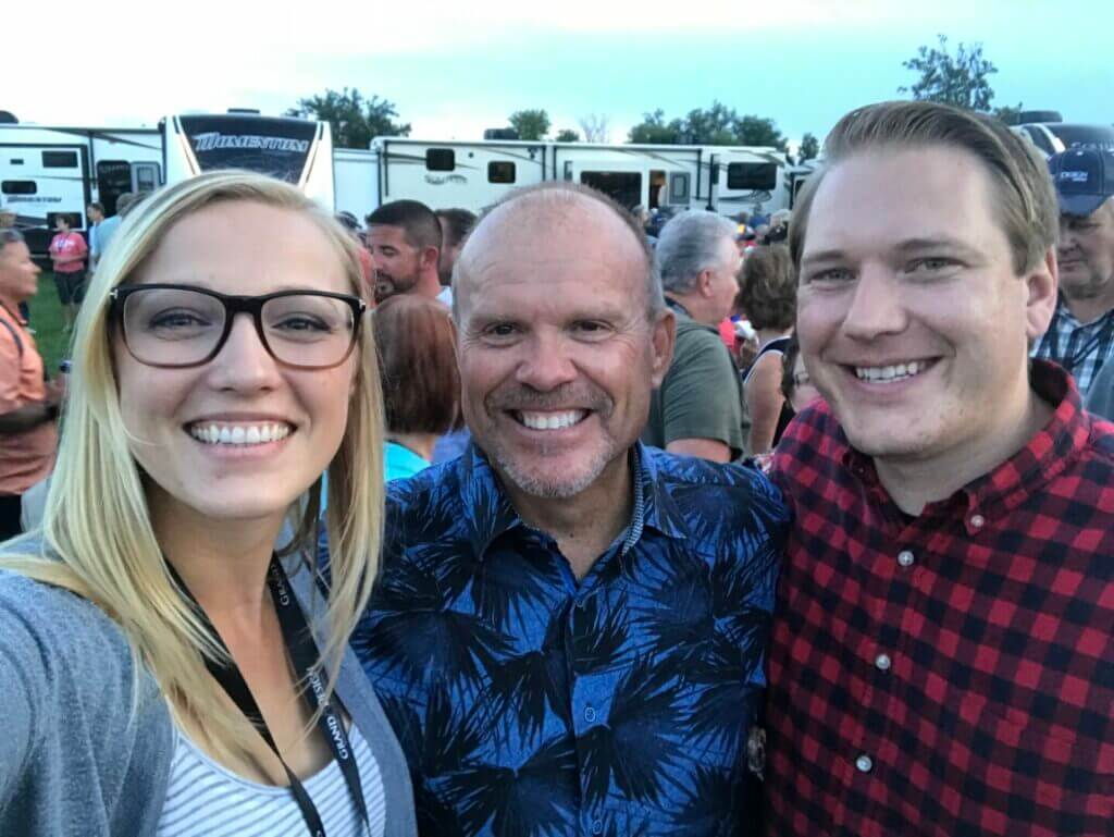 Rae and Jason with the CEO of Grand Design RV, Don Clark at a rally in Indiana. With such a great customer service reputation, you might wonder who owns Grand Design RV.
