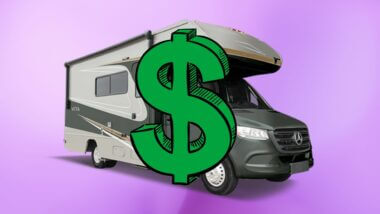 Class C RV with a dollar sign