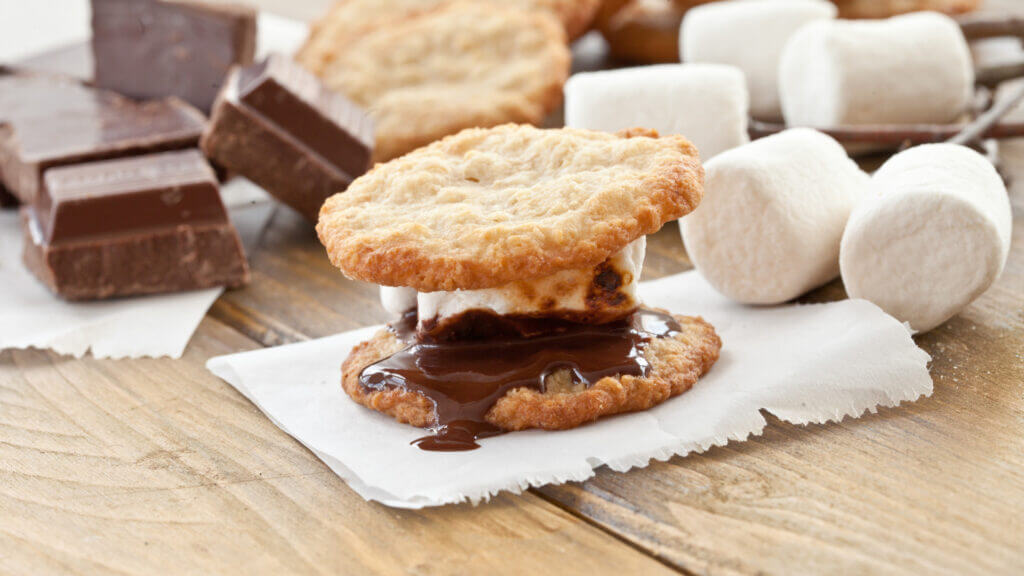 A melty smore but instead of graham crackers the chocolate and marshmallows are in between two sugar cookies.