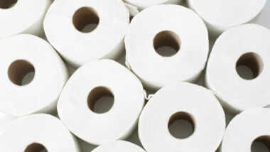 A bunch of toilet paper rolls stacked on top of each other. Is RV toilet paper worth it?