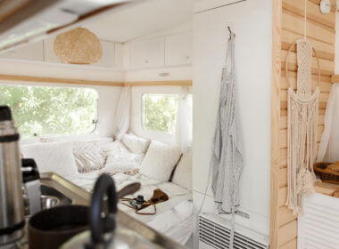 A re-decorated RV looks and feels more like a house with personalized touches!