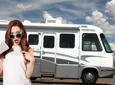 A woman is happy to know how to make money while RVing