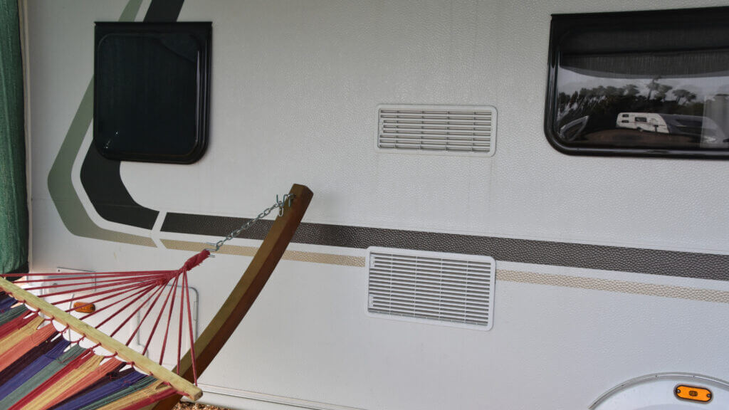 To keep cool in your RV in the summer heat you can shut your RV window shades to keep the sun's heat out.