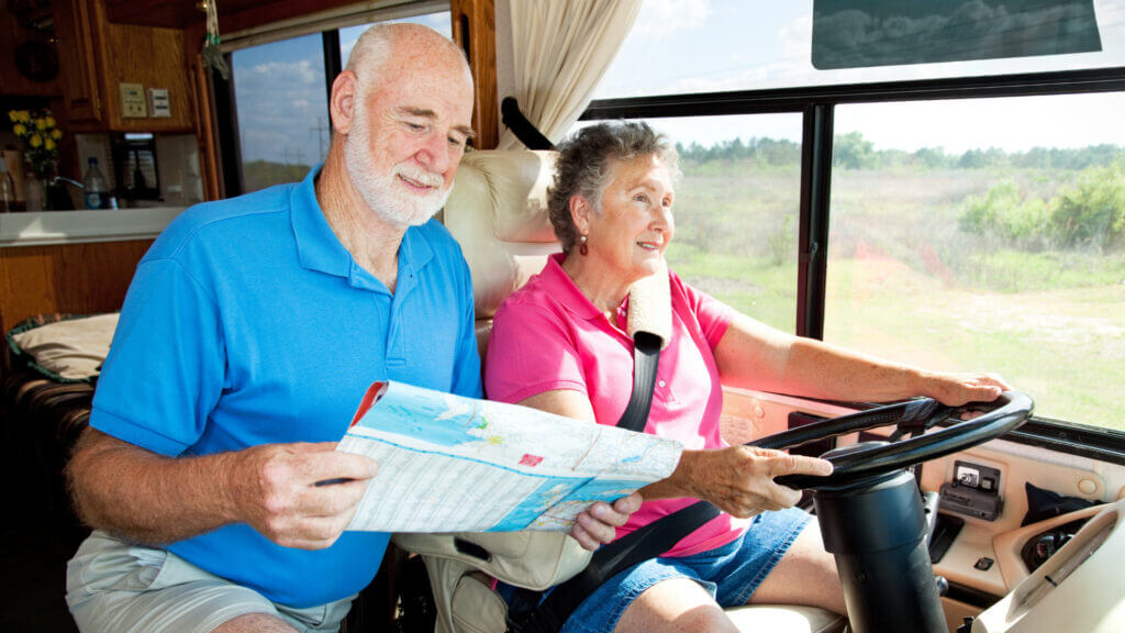 A couple travels slowly in their RV to save money and make the most of their RV budget.