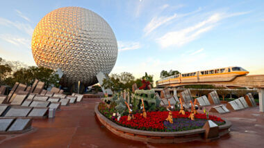 The Disney World Epcot center is a great place you can visit on your Disney RV trip.