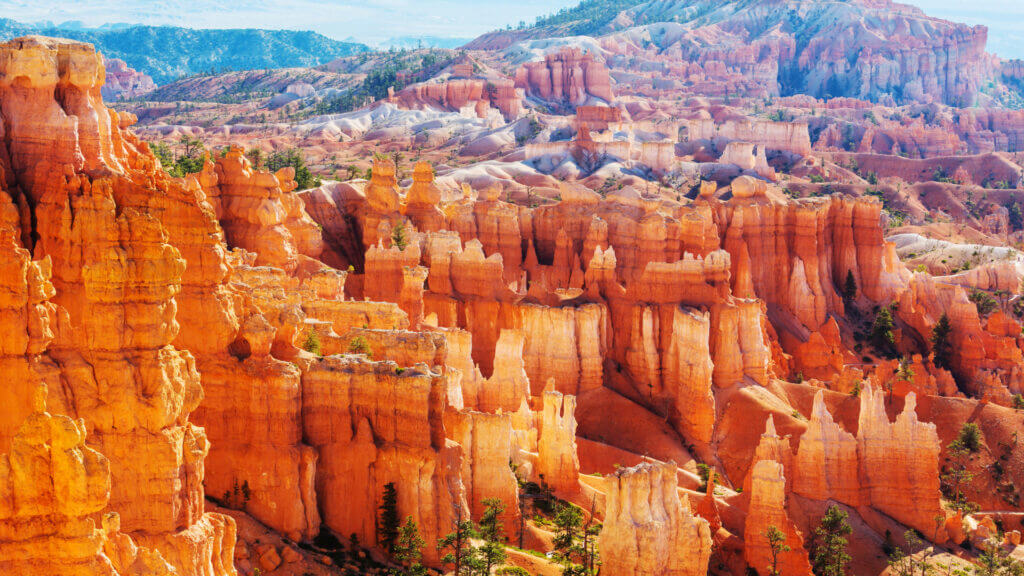 Bryce Canyon's unique hoodoo rocks are a sight to see on an RV trip to Utah.