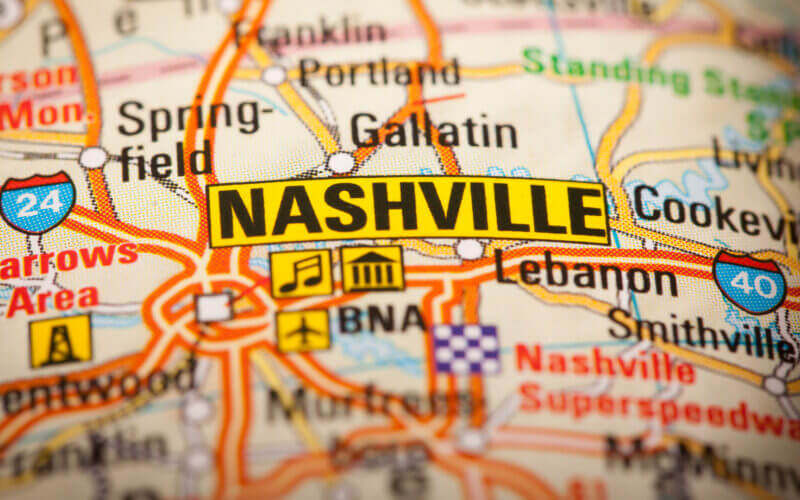 Planning an RV trip to Nashville requires some good planning and a map of the city.