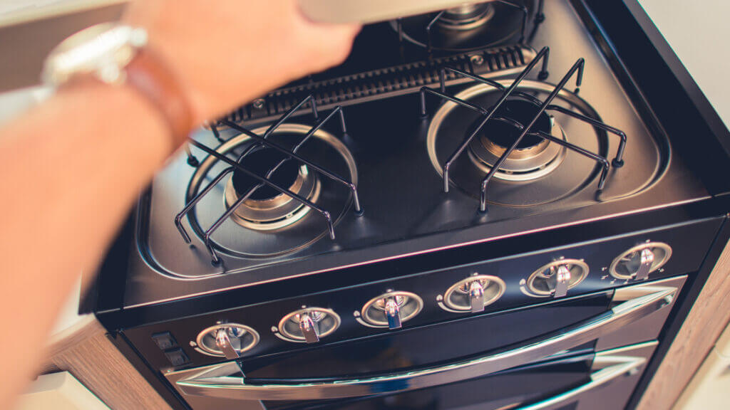 An RV stove needs a functioning propane system to work safely and properly.