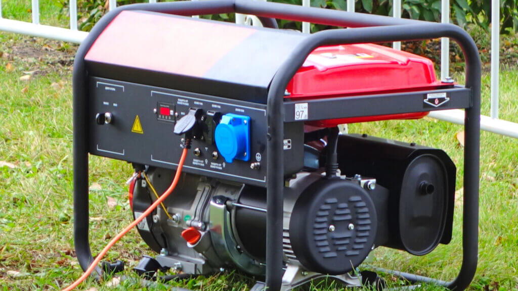 A large portable generator can power up your RV or even a large motorhome.