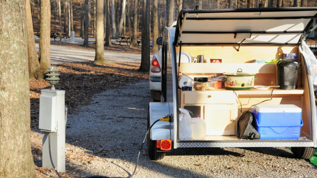 Travel trailers don't have much storage space so get used to leaving a lot of things back home!