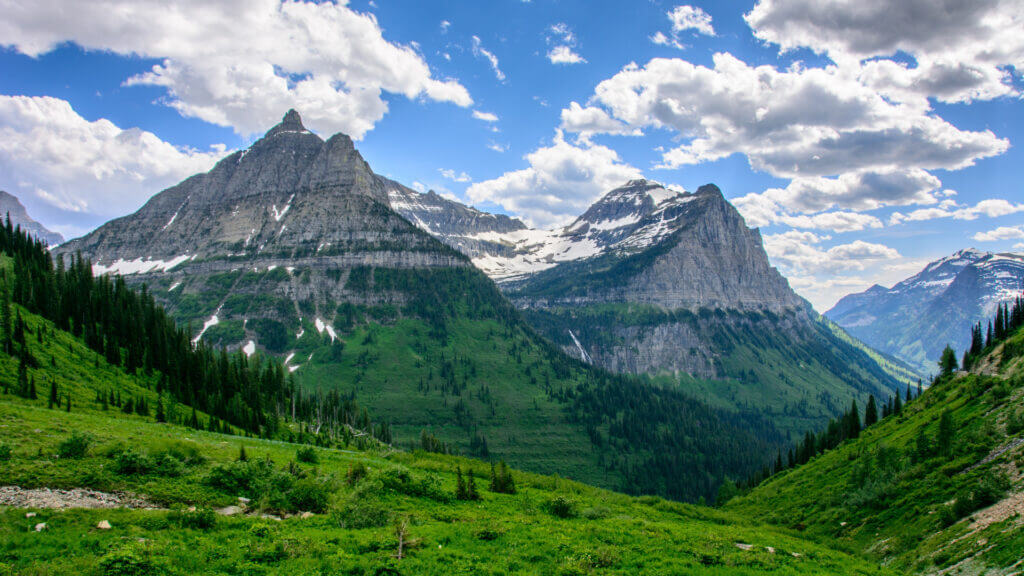 The mountains in Glacier National Park looks like the Swiss Alps but they can be seen here in America!
