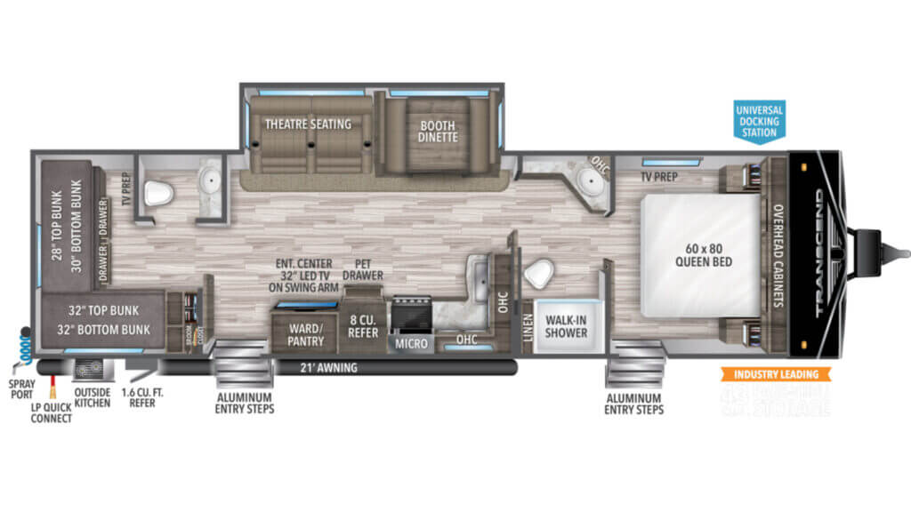 Grand Design Floor plan with the best bunkhouse.