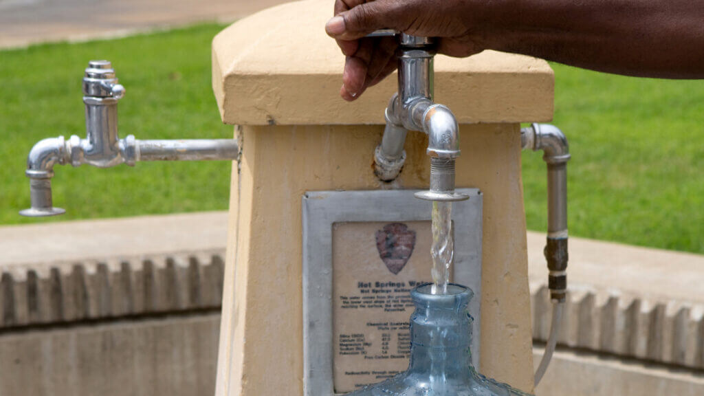 You can fill water jugs up with spring water in Hot Springs Arkansas.