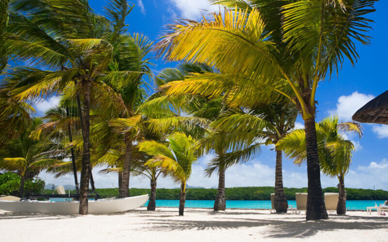 A luxurious beach resort can be a part of your next RV vacation.
