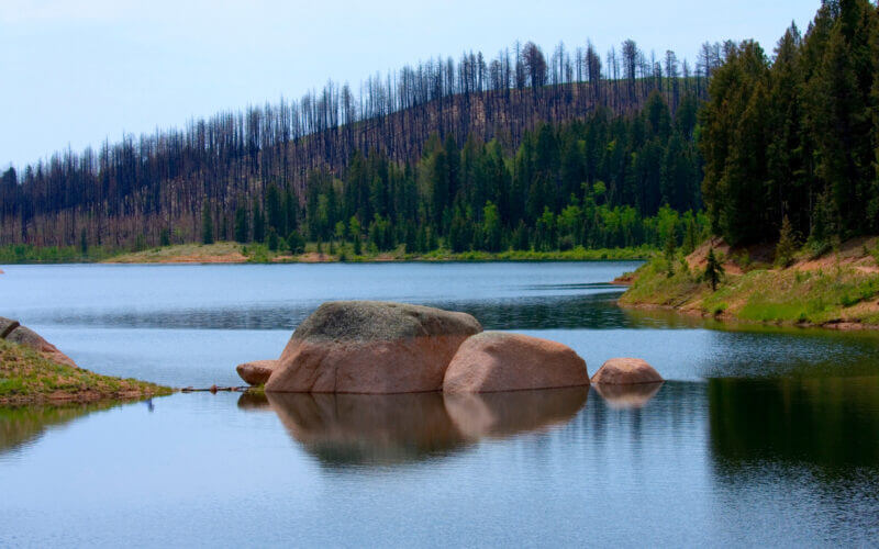 Rampart Reservoir camping is a great escape from the hustle and bustle of Colorado Springs and Denver.
