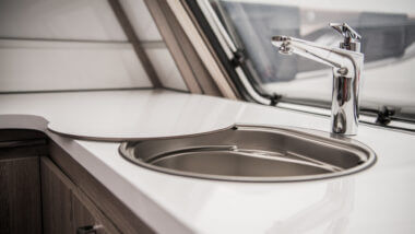 A sink needs the RV freshwater system to work in order to be safe and functioning.