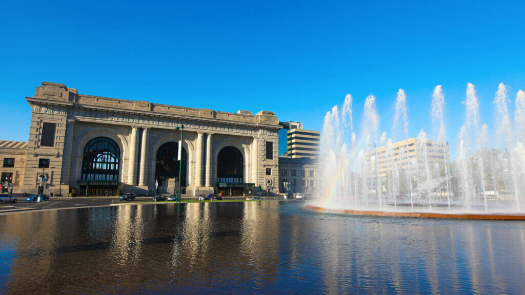 Union Station is a well known landmark in Kansas City and has iconic architecture from 1901.
