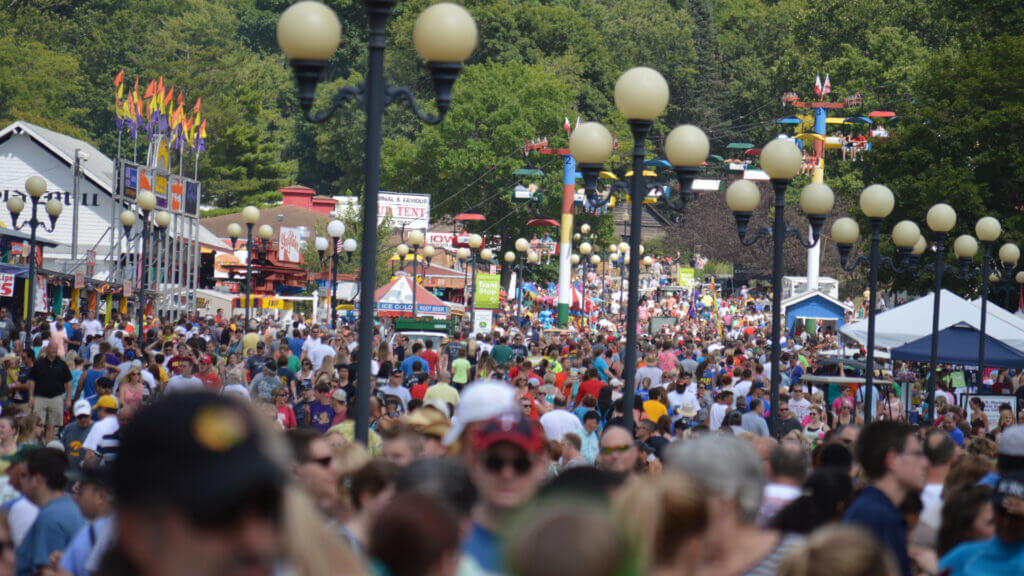 There is nothing quite like the Iowa state fair! With crowds, rides, and every type of fried food available.