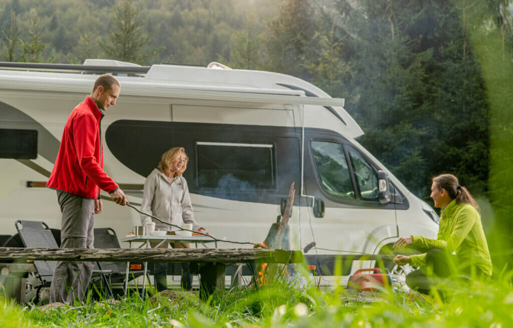 Family Boondocking in a National Park.