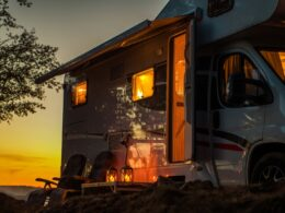 Scenic RV Camping Spot During Sunset