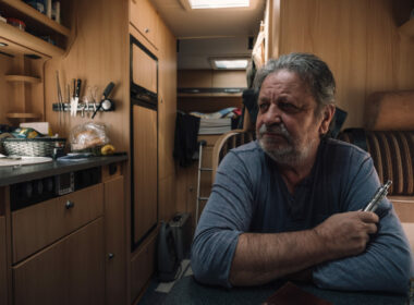 a man in retirement in his RV regretting his decision