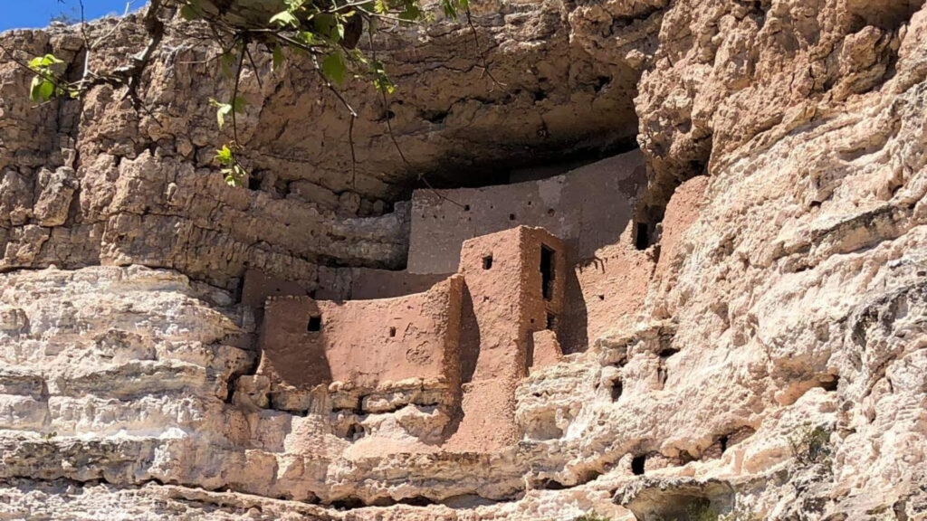 Cliff dwellings that can be found in Tonto National Forest in the Superstition Mountains.