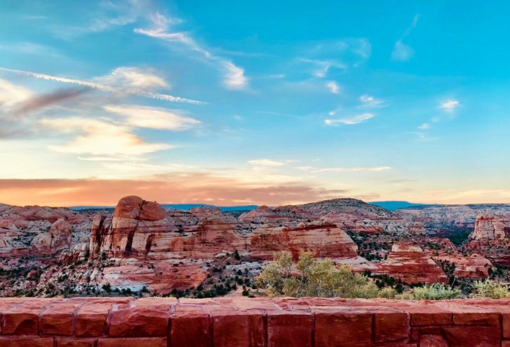 Sunset over Grand Staircase-Escalante National Monument in Utah
